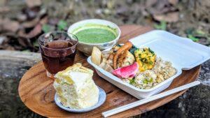 豆腐とひじきの和風ハンバーグ&小松菜ごはん