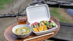 野菜と卵の信田煮&里芋の柚子蜜和え